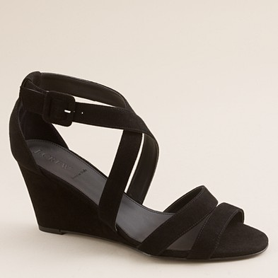 """866a9c58c0f41 From JCrew  """"All the leg-lengthening benefits of a more formal heel with a  tapered profile that adds polish to shorts"""